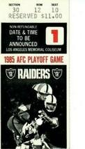 Vintage 1985 AFC Divisional Playoff Game Ticket Stub Patriots vs Raiders... - $29.69