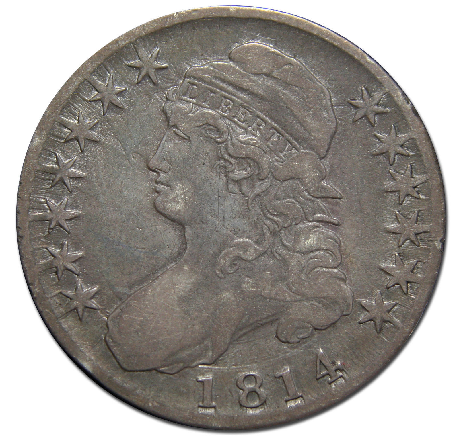 1814 Capped Bust Half Dollar 50¢ Coin Lot# MZ 3099