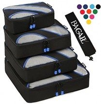 4 Set Packing Cubes,Travel Luggage Packing Organizers With Laundry Bag B... - £43.45 GBP
