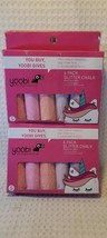 Yoobi Glitter Chalk 6 Pack Bonus Unicorn Stencil New  - $11.13
