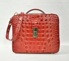 NWT Brahmin Evie Leather Satchel/Shoulder Bag in Lava Melbourne - $239.00
