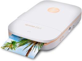 HP Sprocket 2-in-1 Portable Photo Printer Instant Camera Bundle w/ 8GB M... - $79.95