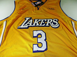 ANTHONY DAVIS / AUTOGRAPHED LOS ANGELES LAKERS PRO STYLE BASKETBALL JERSEY / COA image 2