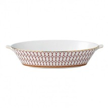Wedgwood Renaissance Red Oval Serving Bowl New with Tag - $192.06