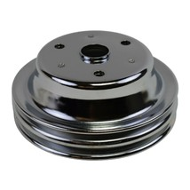 Crankshaft Pulley Double-Groove LWP Long Water Pump For Chevy SBC 262 307 400 image 2