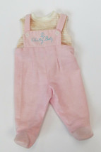 Vintage Chatty Cathy Chatty Baby Doll Clothes Pink Bib Overalls Mattel 1... - $14.85