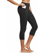 BALEAF Women's High Waisted Yoga Capris w Side Pockets Cropped Leggings ... - $51.10