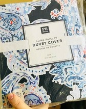 Pottery Barn Teen Luna Duvet Cover Twin Blue Paisley No Shams - $58.00