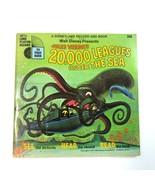 Vintage Disney 20,000 Leagues Under the Sea Read Along Book & 33 1/3 LLP... - $9.99