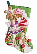 "Bucilla Sugarland Fairy 18"" Christmas Stocking Felt Applique Kit, 86714 - $29.99"