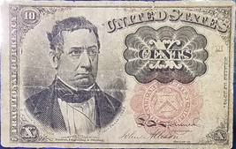 1874 10C Cent William M Meredith Red Seal Paper Fractional Currency Note - $19.95