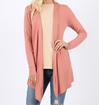 Open Draped Cardigan, Lightweight Drapey Cardigan, Rose Open Cardigan, Womens, M