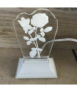 General Electric Acrylic Rose Silhouette Standing Night Lite GE 3942 - $14.00