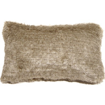 Pillow Decor - Tundra Hare Faux Fur 12x20 Throw Pillow - £26.77 GBP
