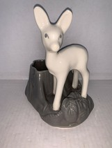 "Vintage Shawnee Planter White Deer Grey Base #624 On The Bottom 7 1/8"" - $25.00"