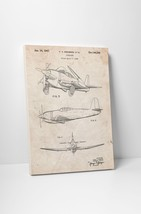 P-51 Mustang Airplane Patent Gallery Wrapped Canvas Print. BONUS WALL DECAL! - $44.50+
