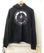 Marvel Captain America Shield Black Hoodie Sweatshirt Size M Medium - $19.95