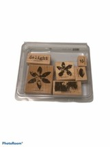 Stampin' Up! Rubber Stamps 2005 Flowers Delight Wooden Arts Crafts - $9.45