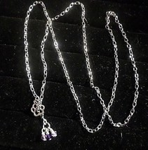 "GNg SPARKLING PAW 29"" lariat necklace w/pink & purple crystals cluster. ... - $4.94"