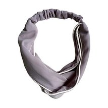 Grey Simple Hair Accessory Vintage Elastic Hair Band Nylon Head Wrap Headband