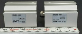 LOT OF 2 NEW SMC CDQ2B20-15DZ COMPACT CYLINDERS 20MM BORE CDQ2B2015DZ