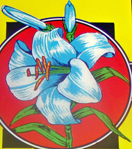 Lithograph Wild Lily Broom Label, 1940's - $0.99