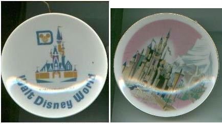 Walt Disney MINI PLATES Disneyland Walt Disney World