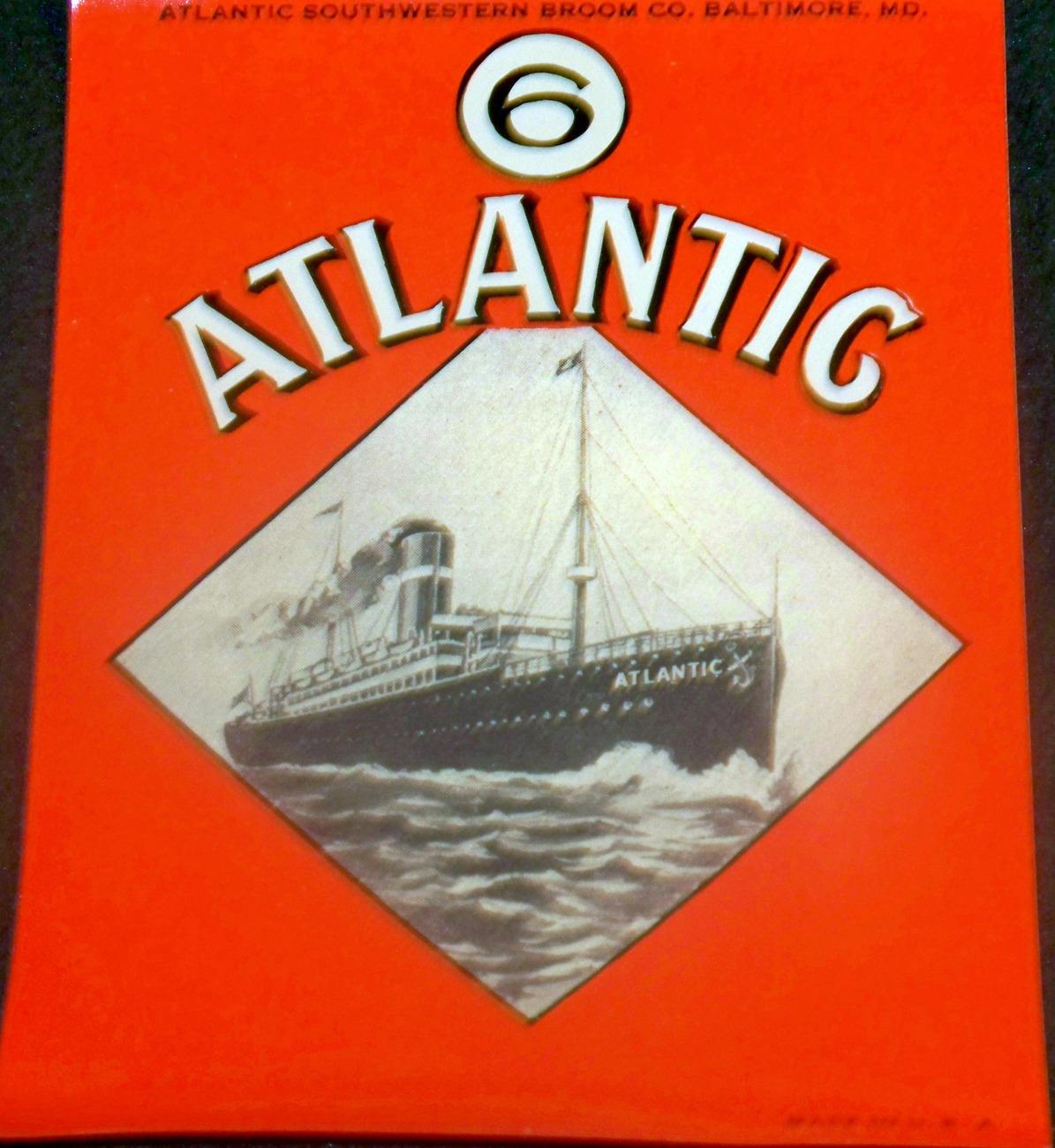 Steamship Disaster! SS Atlantic Label, 1920's