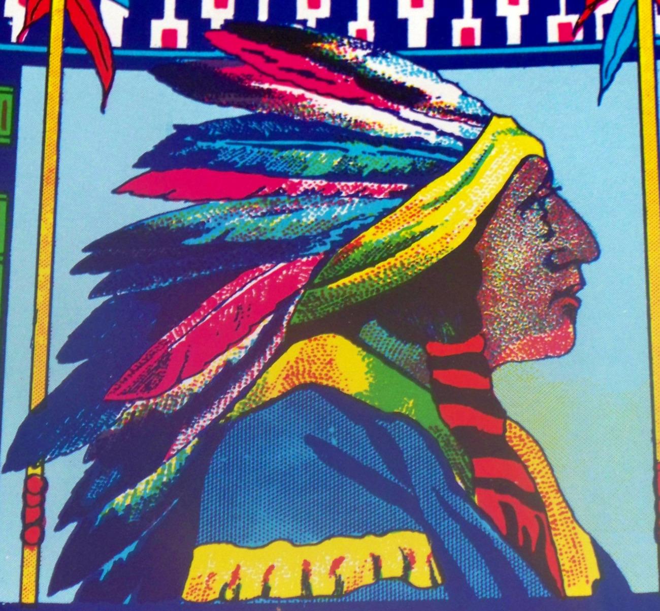 Indian chief broom label 002