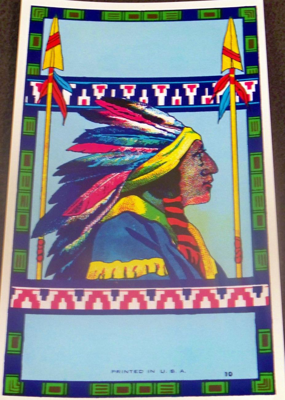Native American Chief Label, 1930's