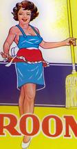 Scandalous! Sexy Woman Broom Label, 1940's - $1.99
