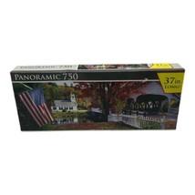 "Panoramic 750 Covered Bridge & Church Stark New Hampshire 37"" Long Sealed - $19.99"