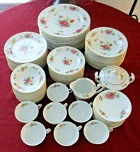 Antique Occupied Japan Sango Floradel Porcelain 79 Piece Dinnerware Set ... - $495.00