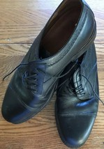 Bostonian Size 10 1/2W Black Made In Italy Dress Shoes Lace Up Leather Uppers - $14.03