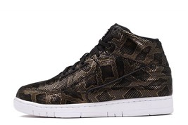 NIke Air Python Sneakers Premium Black Metallic Gold 705066 002 Men's Si... - $98.99
