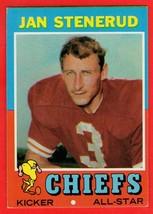 1971 Topps #61 Jan Stenerud HOF football card - $0.50