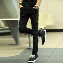 Fashion Stretch Jeans Men's Black Jeans Pencil Denim Trousers - $42.64