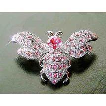 Bumble Honey Bee Swarovski Rose Crystal Brooch - $48.00
