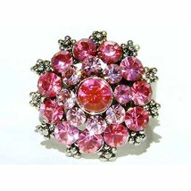 Sexy Pink Swarovski Crystal Party Ring - $31.00
