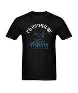 I'd Rather Be Fishing Shirts Men's Tee T-Shirt Angler Fisherman Reel Lur... - $19.97+