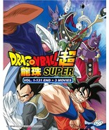 Anime DVD Dragon Ball Super Vol.1-131 End + 3 Movies English Dubbed Free Ship - $38.50