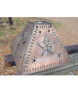 Western Lamp Shade Metal Tin Punch Glass Star Southwestern ...