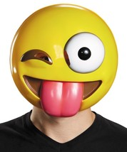 Tongue Out Emoji Mask Emoticon Adult Funny Unique Halloween Humorous DG85327 - $29.99