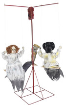 Animated  LifeSize 6 ft Haunted Merry-go-Round Halloween Prop See Video - €156,86 EUR