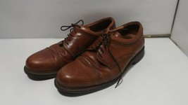 Johnston and Murphy Mens Size 9.5 Brown Leather Oxford Shoes 20-4926 -A251 - $39.59