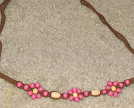 Vintage late '70's Wooden Beaded Choker - $4.50