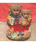 "Caroler Teddy Bear Christmas Statue - approx.4"" tall - $1.00"