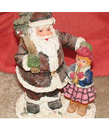 "Santa Teddy Bear Christmas Statue - approx.4"" tall - $1.00"