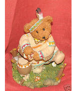 "Teddy Bear Thanksgiving Indian Statue - approx.4"" tall - $1.00"