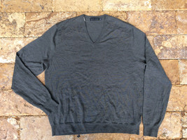 $295 Ralph Lauren Men's Merino Wool V-Neck Sweater, Gray, 2XL. - $148.49